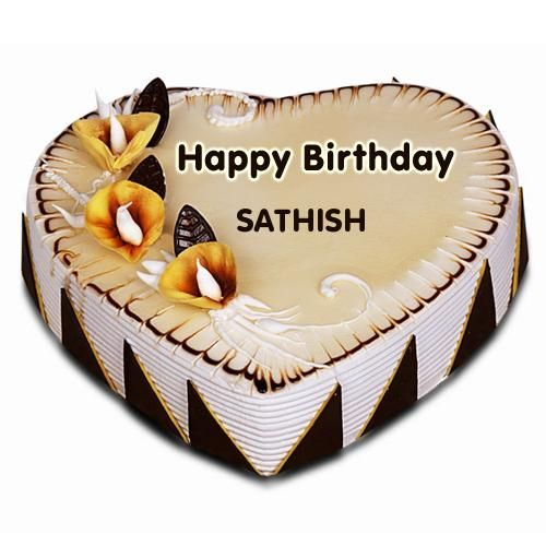 Write Name on Fig and Honey Birthday Cake Online SATHISH