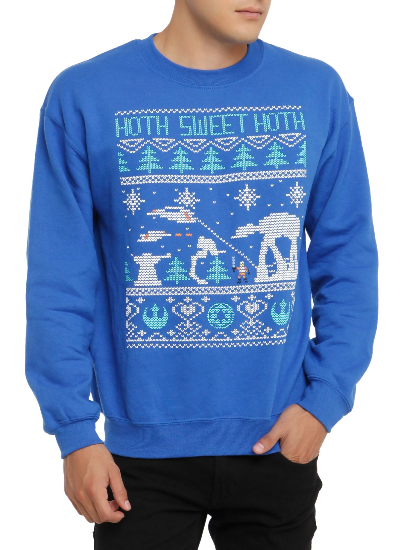 Star Wars Hoth Ugly Sweater Crew Pullover | Hot Topic | Dressing ...