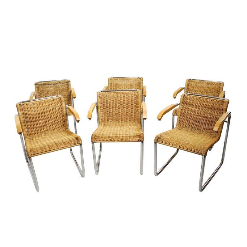 9ebfc2a1bfc7e Vintage Marcel Breuer Style Armchairs - Set of 6 -  2