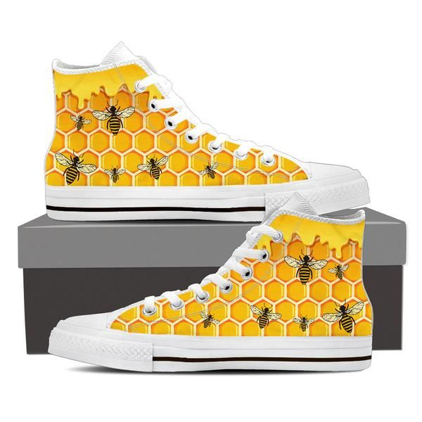 black and yellow bee shoes women
