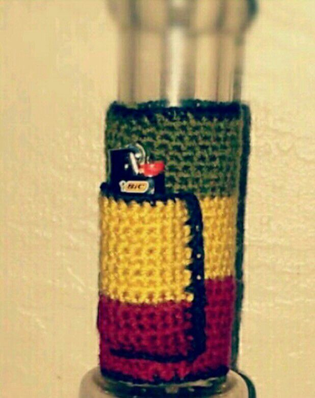 Crocheted 420 BongPipe Plushie with Lighter