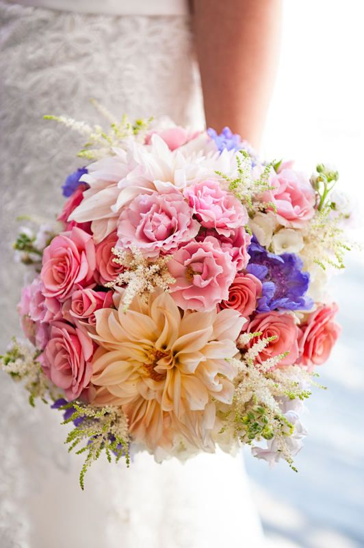 Colorful Soiree Floral bouquet at a Nantucket wedding by Zofia Photography via Style Me Pretty http://su.pr/1Shv8B vintage