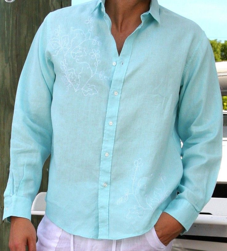 casual beach summer Linen shirt | Guayaberas Style | Pinterest ...