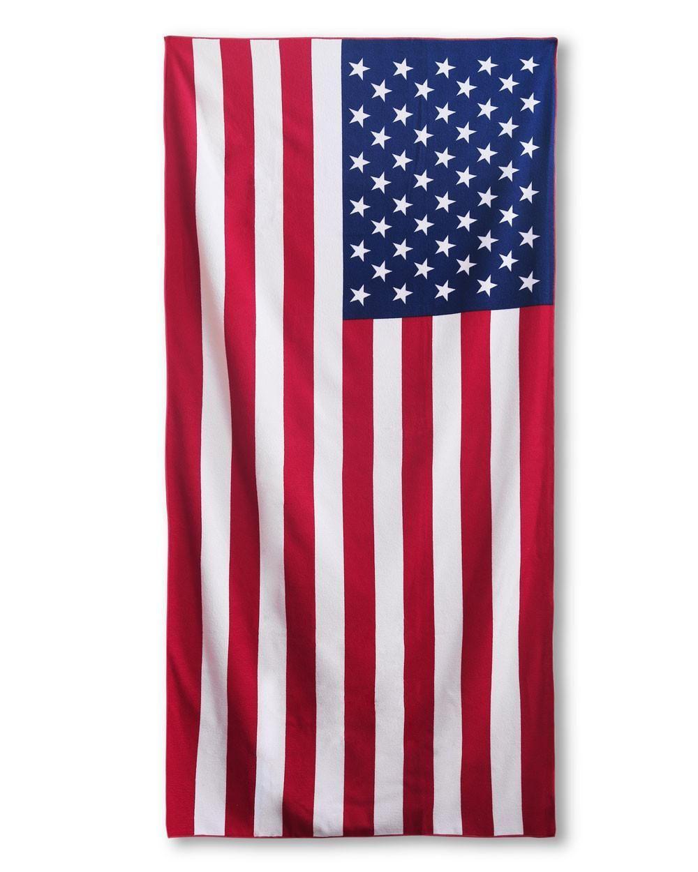 Coral Palms Printed Beach Towels Beach Towel American Flag Red