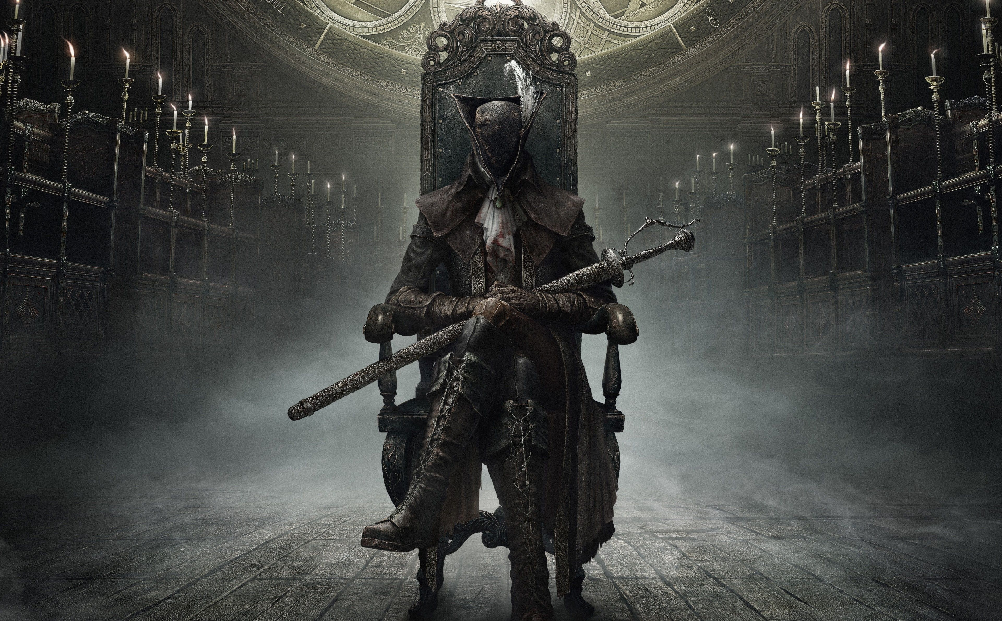 Bloodborne The Old Hunters Hunter 4k Download 4k Wallpaper Hdwallpaper Desktop In 2020 Bloodborne Video Game Posters Hidetaka Miyazaki
