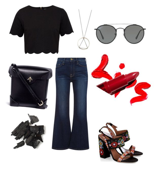 """""""Central Park"""" by marleigh-erin on Polyvore featuring Frame, Tabitha Simmons, Ted Baker, South Moon Under, MANU Atelier and Ray-Ban"""