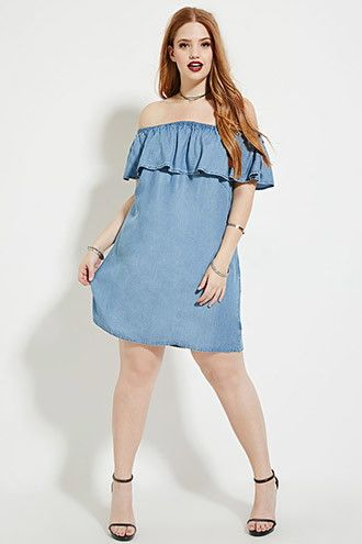 Plus Size Chambray Dress | Forever 21 PLUS - 2000168318 ...