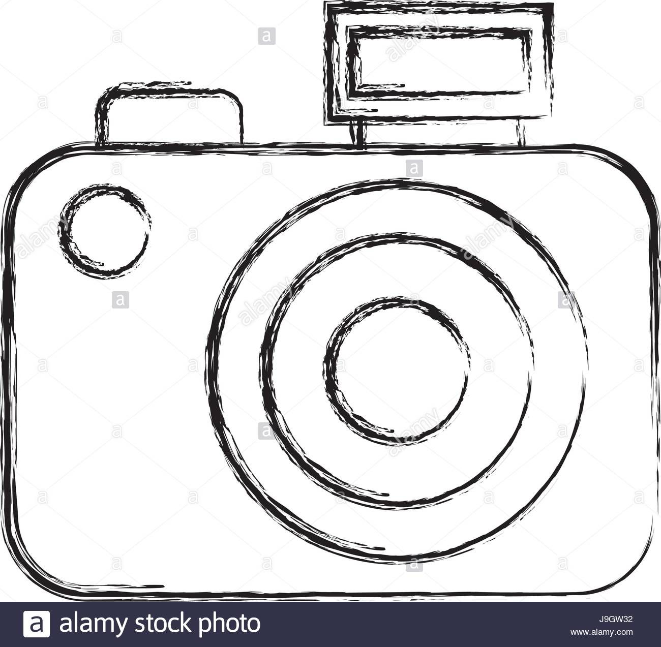 Download this stock vector: sketch draw camera cartoon