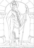 A new St. Nicholas coloring picture-- I love all of their