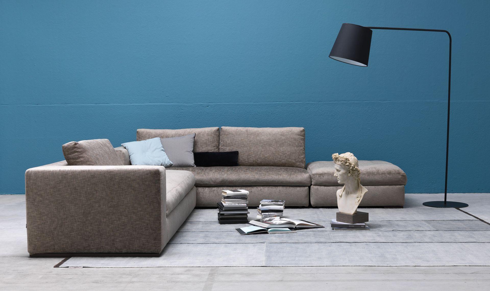 Il divano California è componibile con diversi moduli,