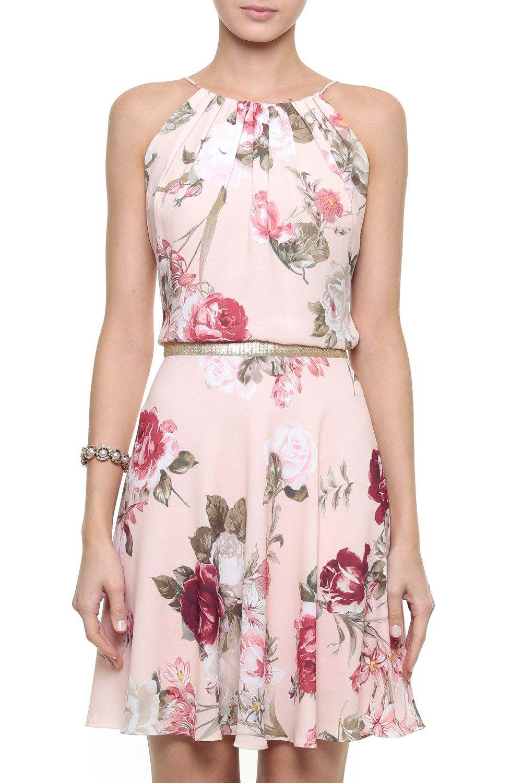 825ac6e84 Vestido Crepe Floral Leila | Moda | Vestidos, Vestido de balanço ...