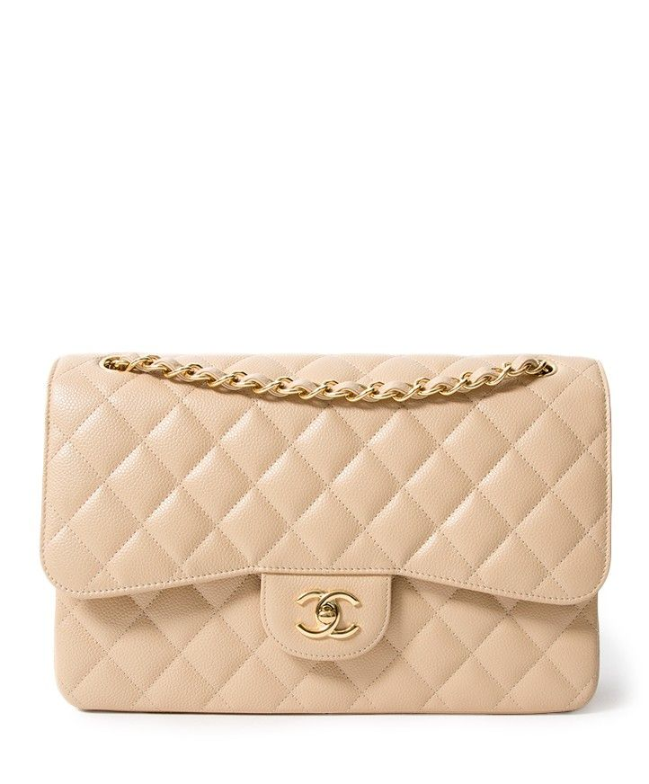 64f448fd Chanel Nude Caviar Jumbo Double Flap Bag authentique seconde main en ...