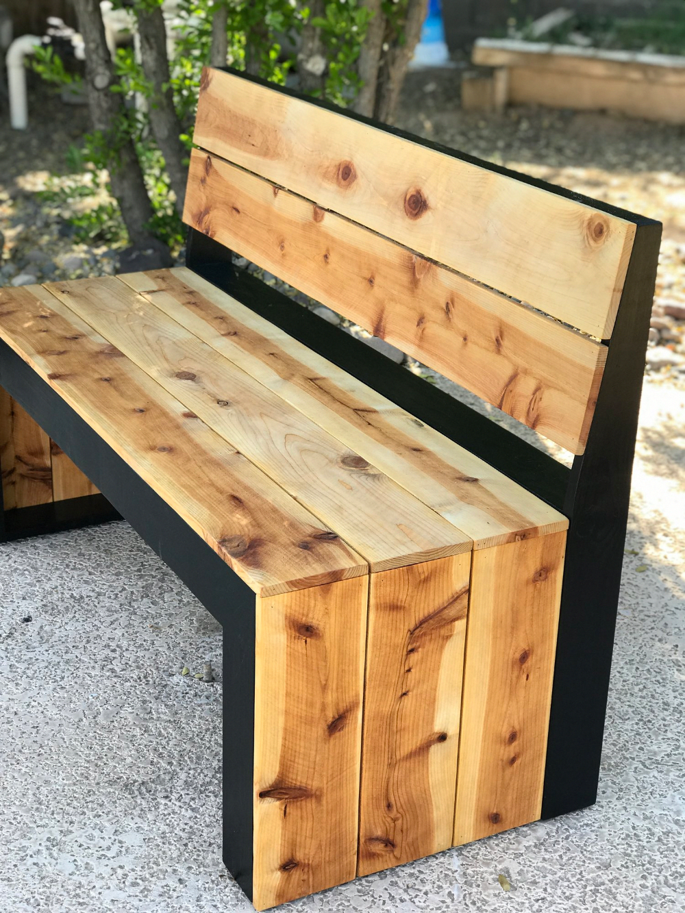 DIY Modern Bench with Back — the Awesome Orange