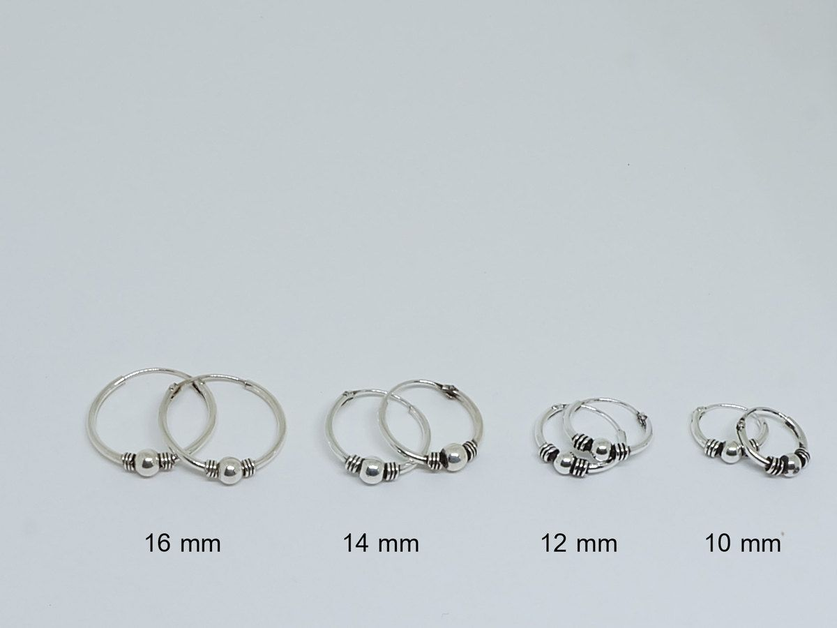 Sterling Silver 12 mm Plain Hoop Earrings iexJfOL