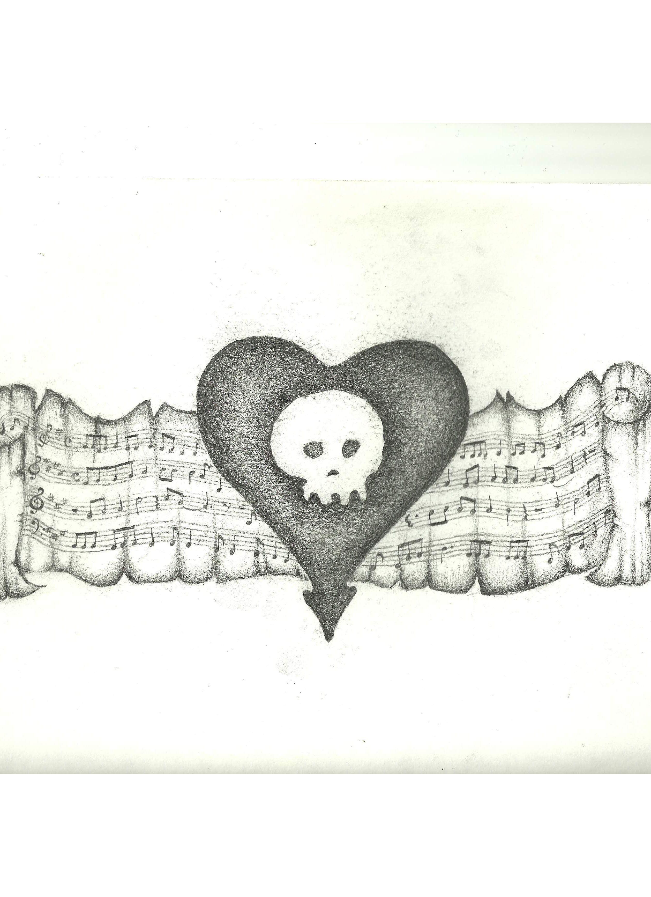 Permanent Sketch Book: Alkaline Trio Heart Tattoo Design-From My Sketchbook