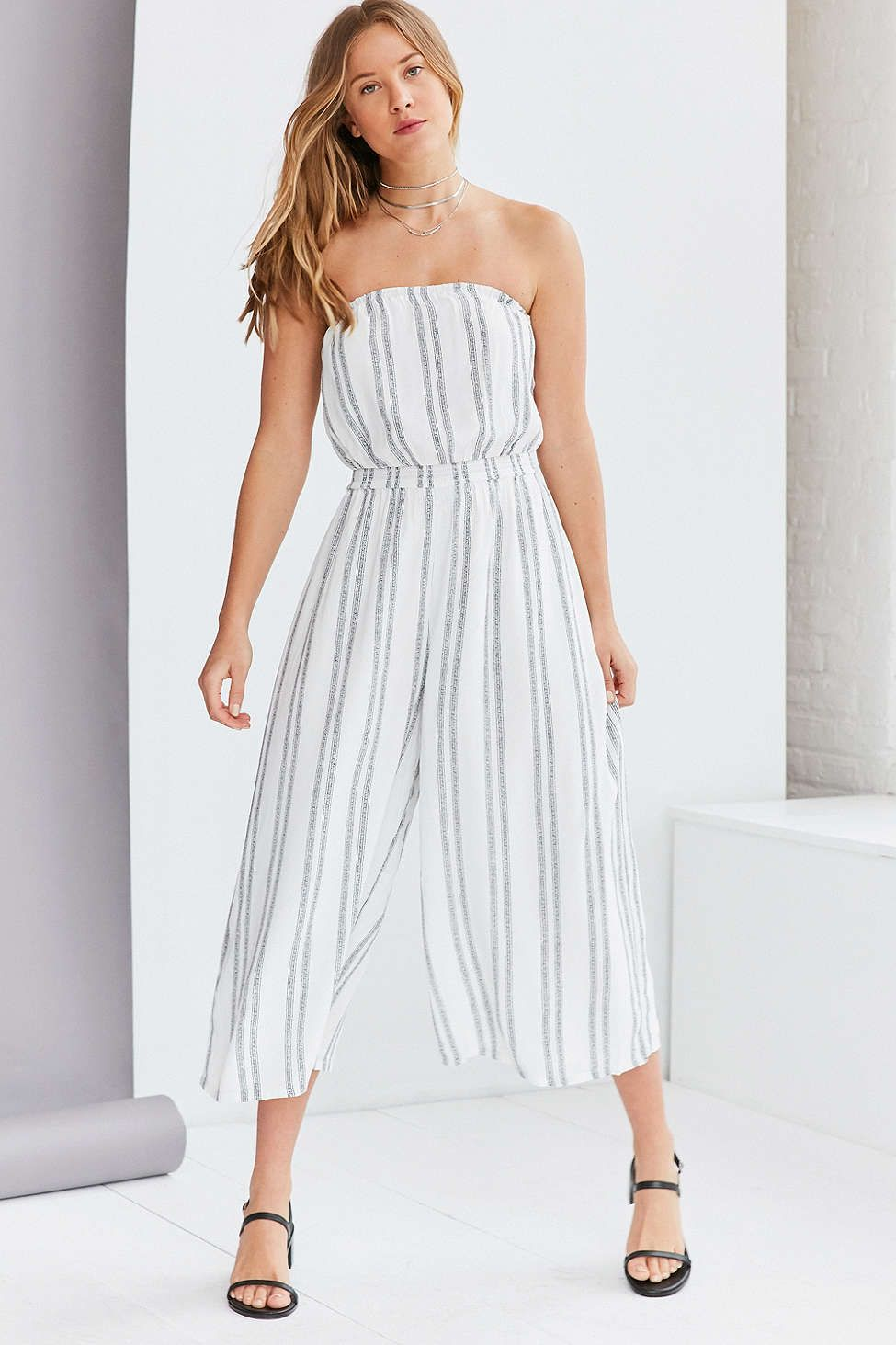 a66098679 Silence + Noise Jackson Strapless Culotte Jumpsuit | ♡ Spring ...