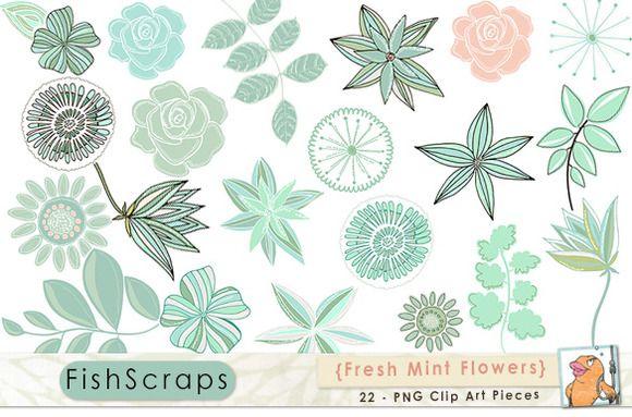Mint Green Flower Clipart Clip Art Mint Green Flowers Flower Clipart Clip Art