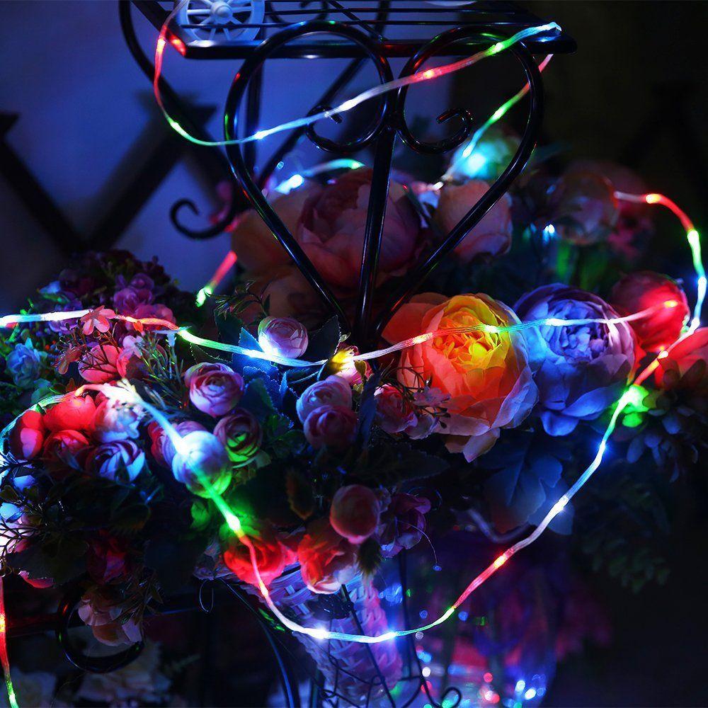 Battery String Lights Led Rope Solar Christmas Home