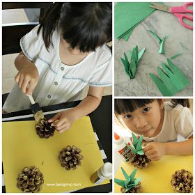 being MVP: Mini Pinecone Pineapple Craft   Fun Crafts with Mom