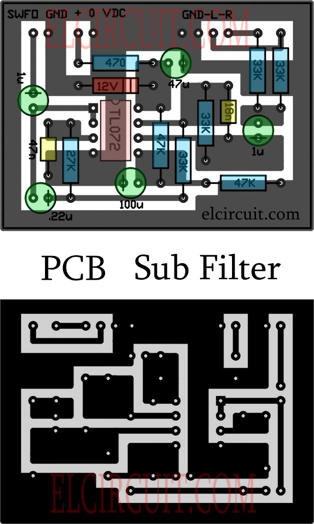 Complete Subwoofer Filter Circuit Tl072 Tlo 72 Circuit Circuit