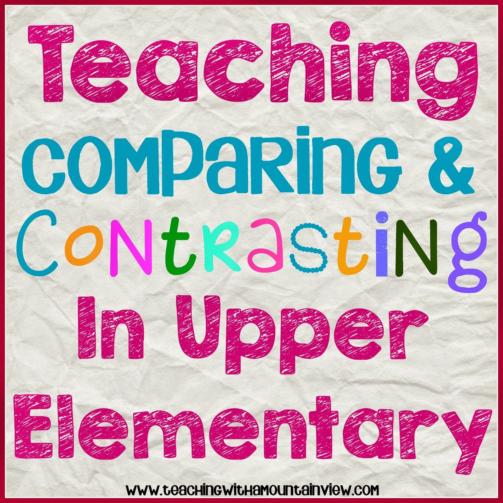 Teaching Children To Compare Amp Contrast