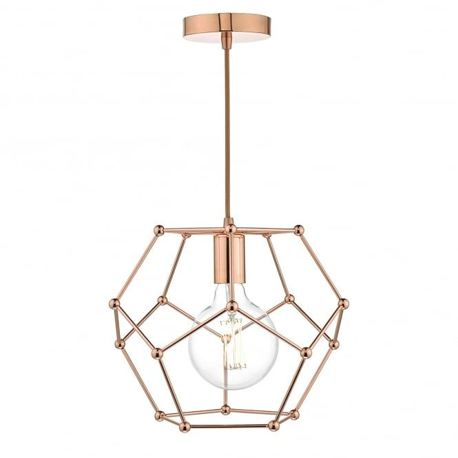 Dar lighting coen single light ceiling pendant in copper finish lighting type from castlegate lights
