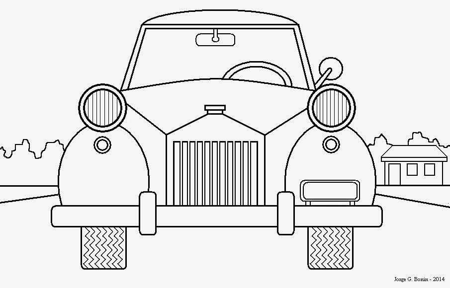 Arte No Paint Desenho Para Colorir Carro Antigo Desenhos Para