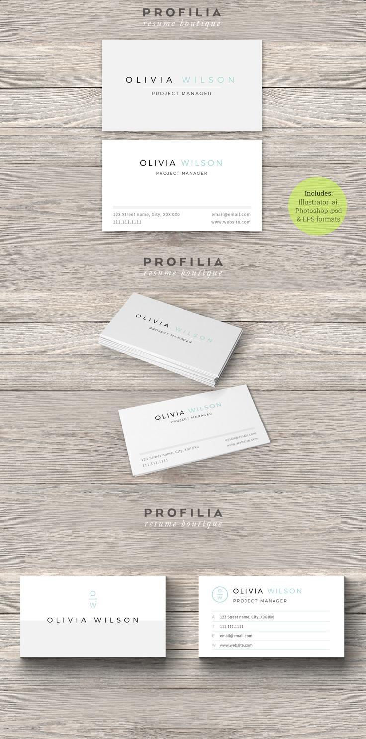 Businesscard Design From Profilia Resume Boutique Download