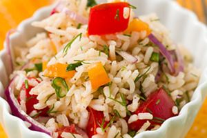 рецепт простого салат с рисом