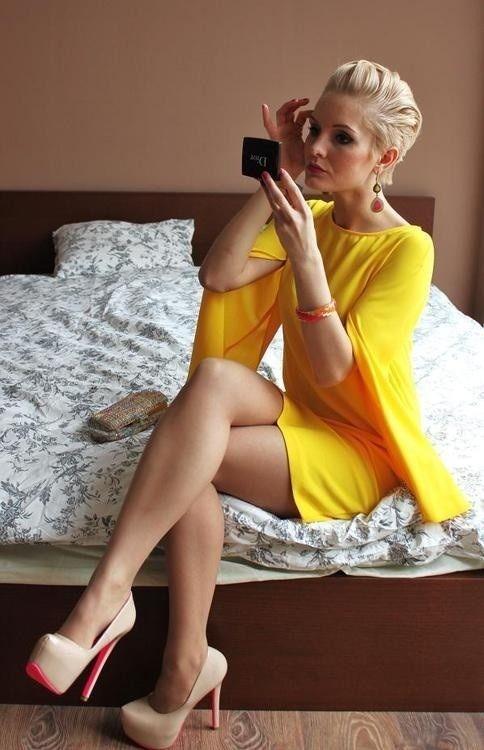 Sexy Blonde High Heels