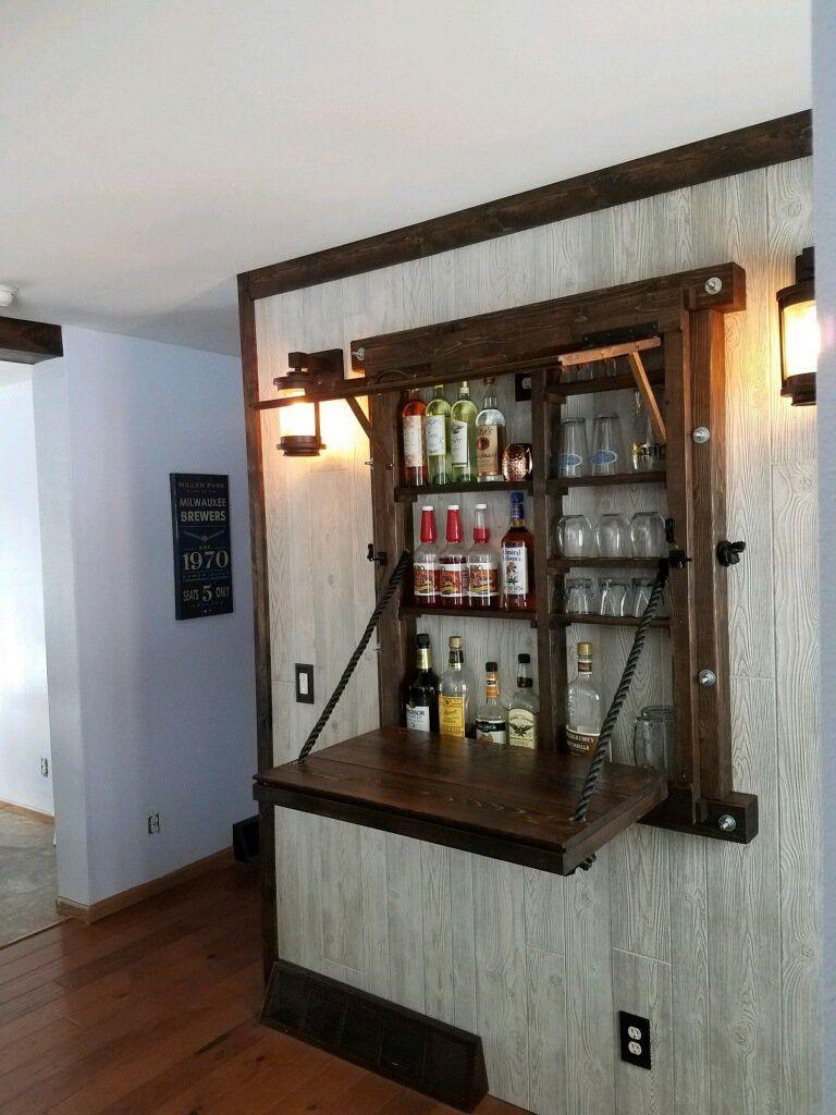 Murphy mural bar Home boissons bar Reclaimed Bois L/'intérieur ou extérieur