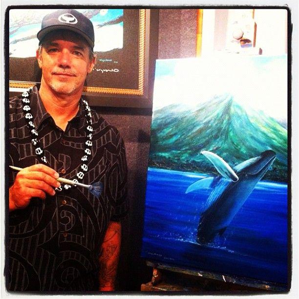 Photo by wyland • Instagram  At my #Wyland #Gallery show in Lahaina, #Hawaii last week