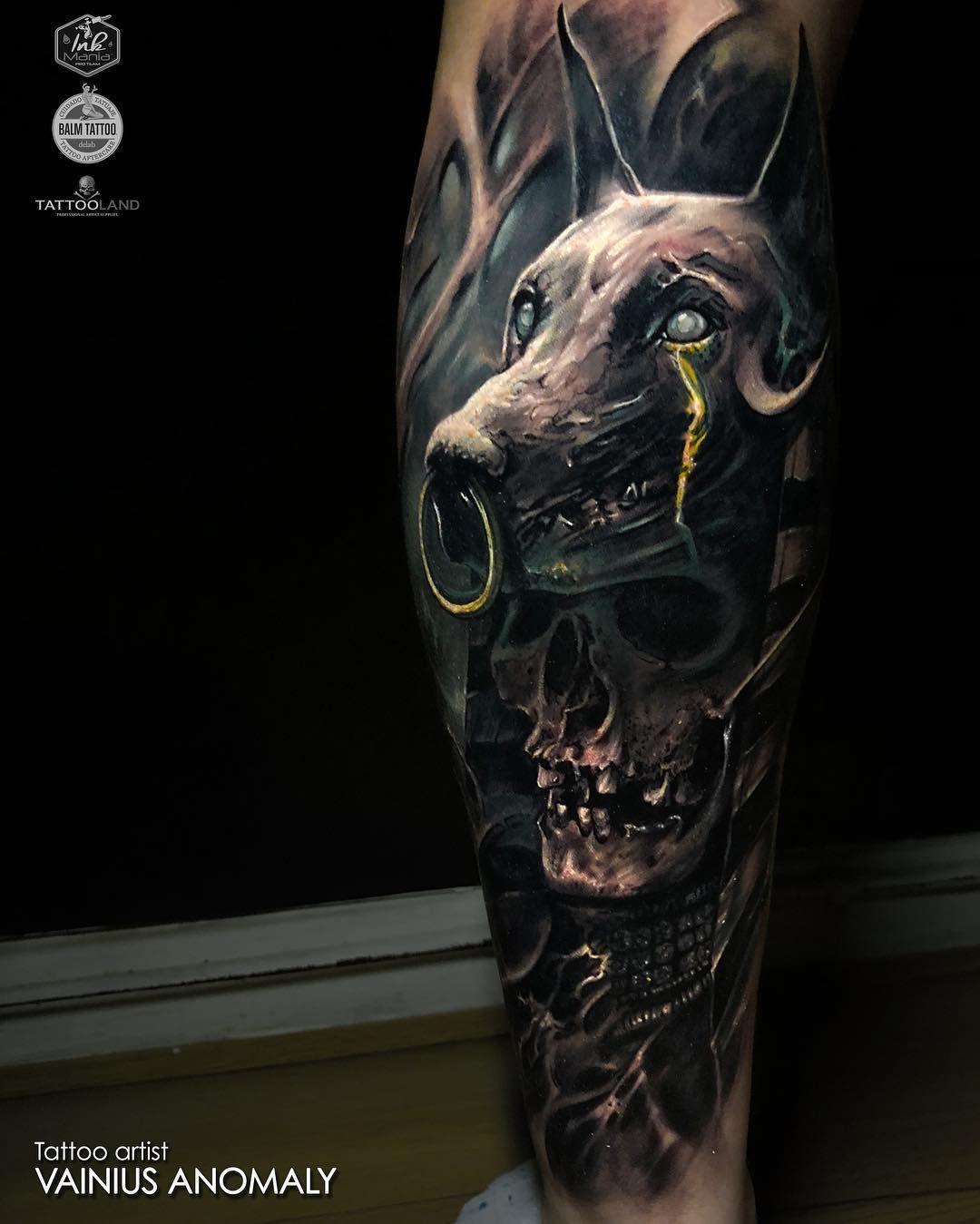 Horror Realism By Vainius Anomaly Inkppl Egypt Tattoo Realistic Tattoo Sleeve Dark Art Tattoo
