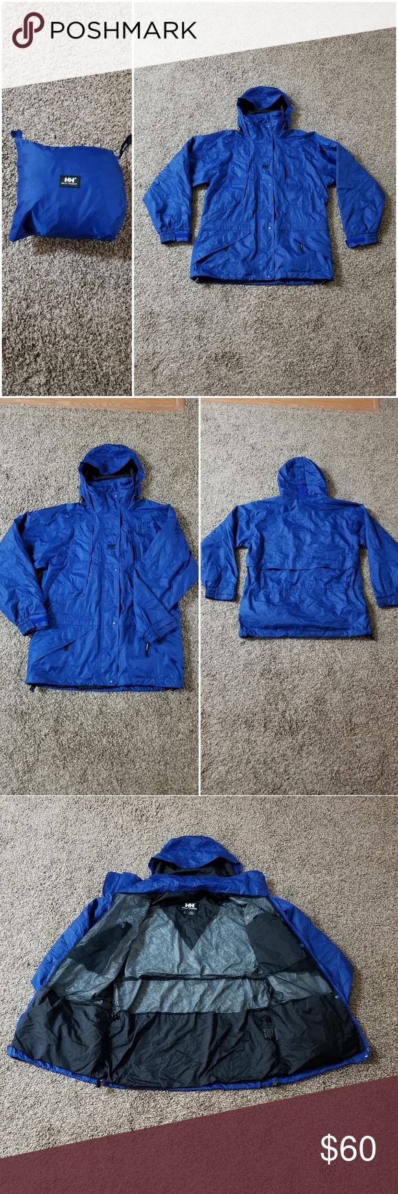 192d03b5f Helly Hansen packable rain jacket Helly Hansen packable rain jacket. Womens  size Medium. Royal