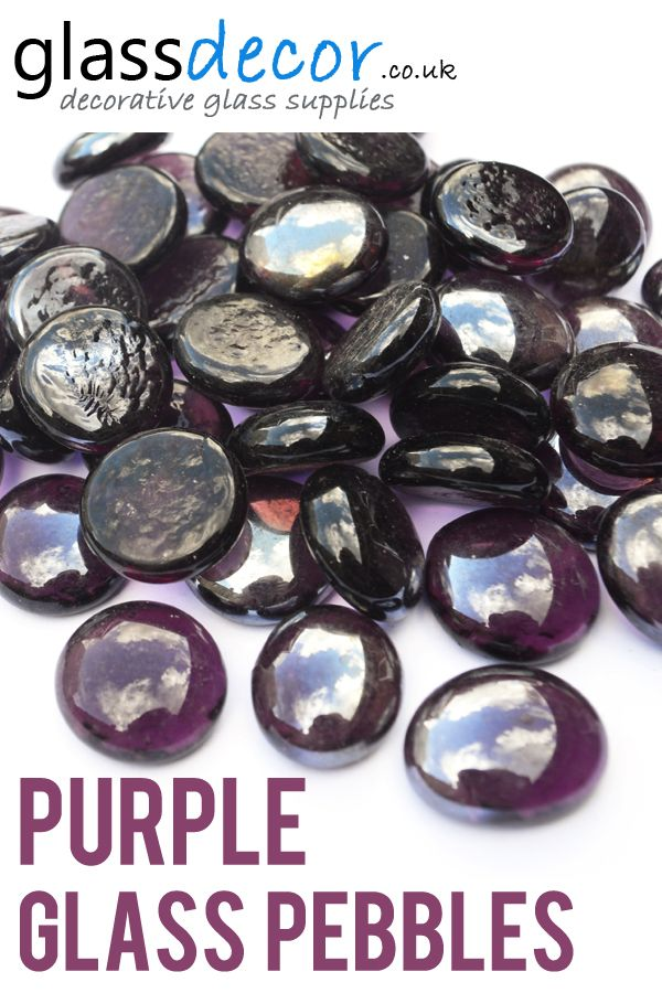 Purple Round Glass Pebbles Glass Pebbles And Stones For Decoration
