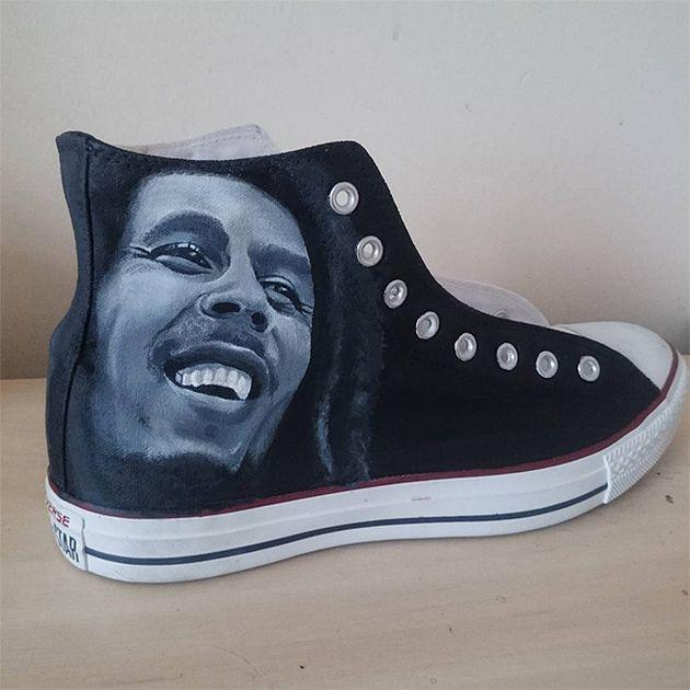Pin By Chandra Y On Bob Marley Pinterest Schuhe Bemalte Schuhe
