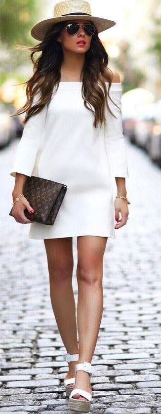Vestida En Blanco Para Este Verano Vestido Blanco De