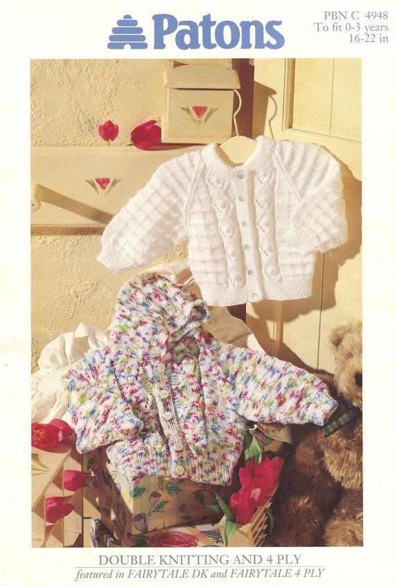 734881facda7 baby cardigan hoodie vintage knitting pattern PDF instant download ...