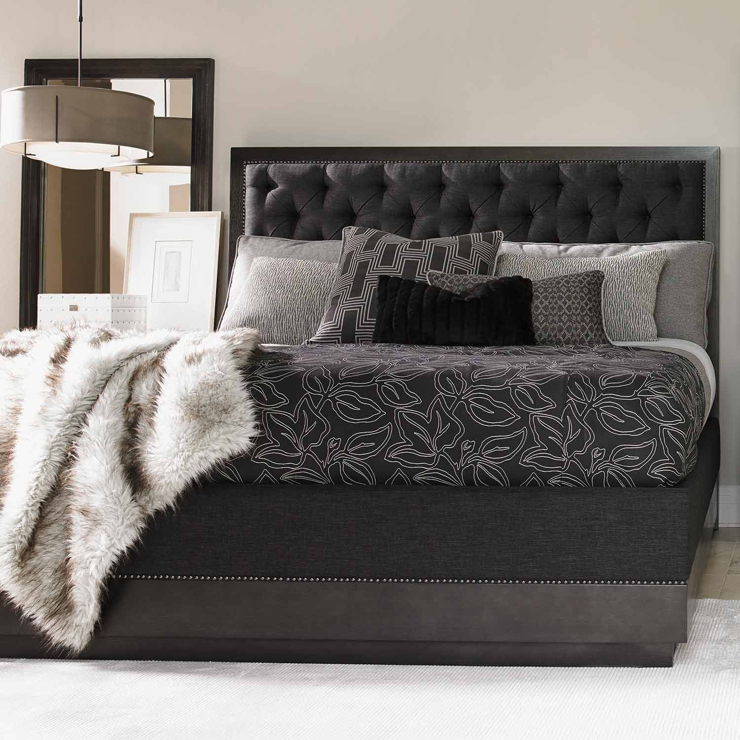 The Carrera Maranello Fabric Upholstered Bed In Gray Mist By