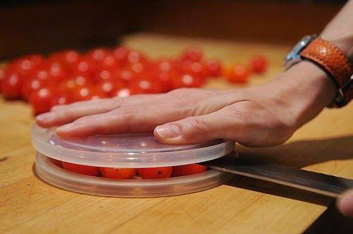 Stir, Laugh, Repeat: Slicing Cherry Tomatoes