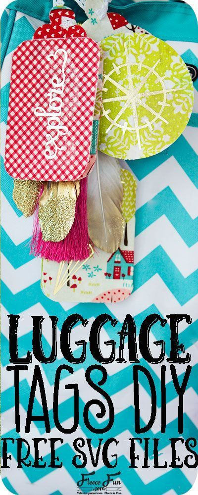 Luggage Tag Diy With Cricut Free Svg File Luggage Tags Diy Diy