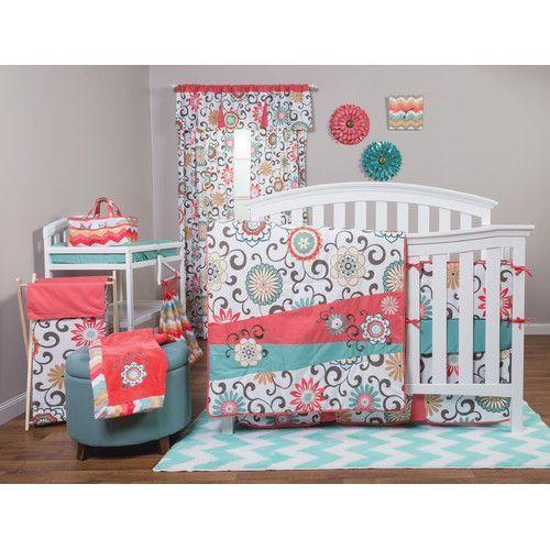 Found It At Wayfair Pom Pom Play 4 Piece Crib Bedding Set Baby Girl Crib Bedding Sets Crib Bedding Girl Girl Crib Bedding Sets