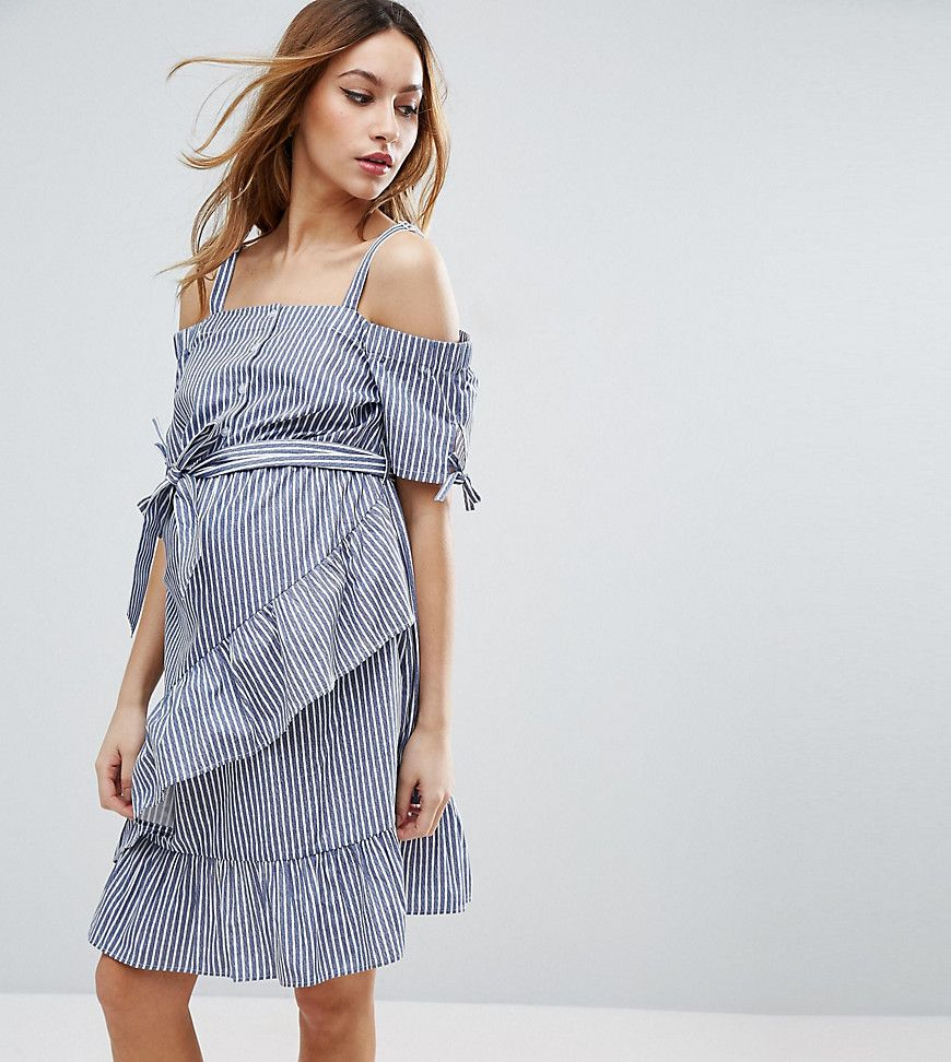 Get this asos maternitys casual dress now click for more details get this asos maternitys casual dress now click for more details worldwide shipping asos maternity off shoulder dress in stripe blue maternity dress ombrellifo Choice Image