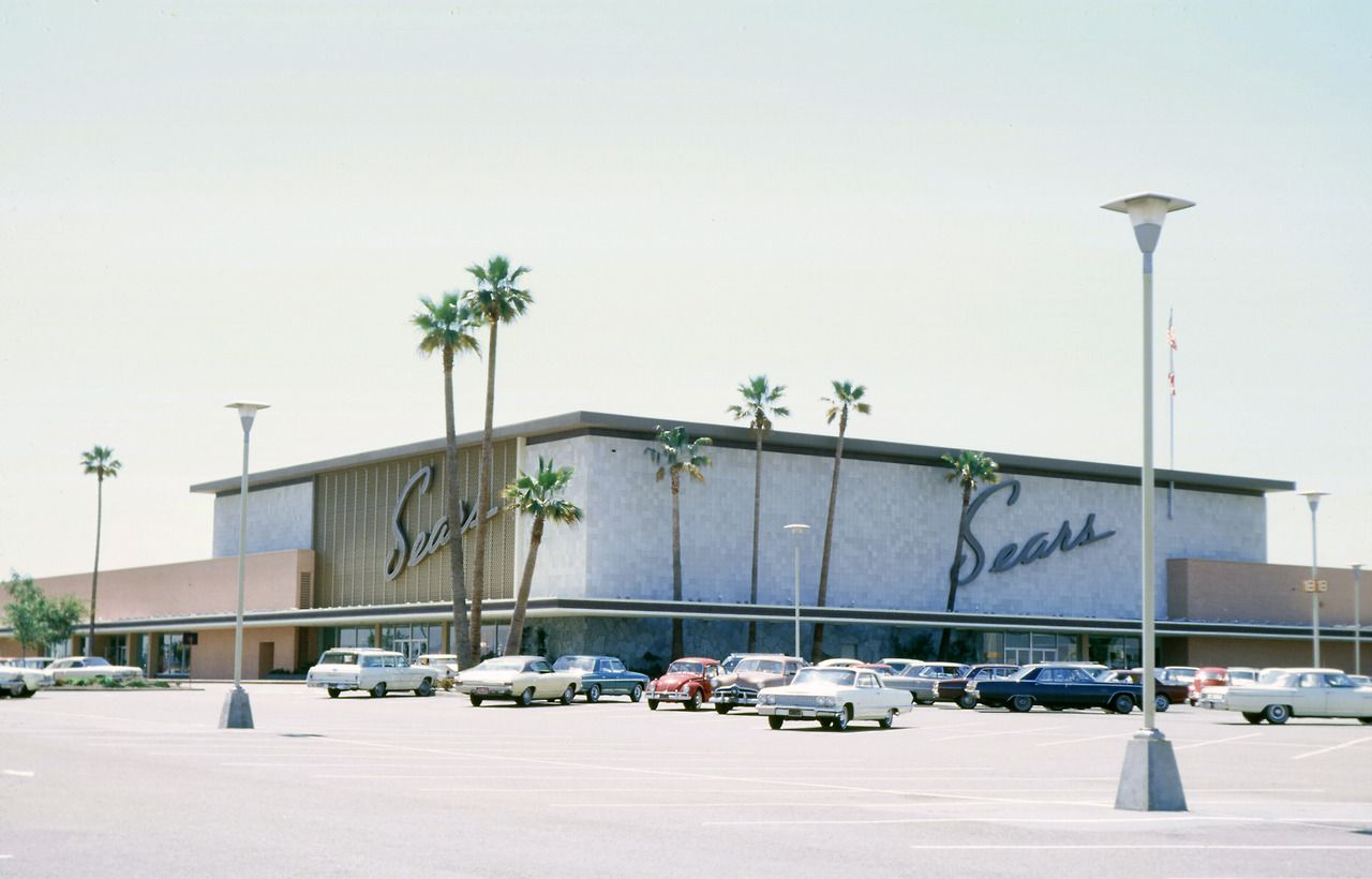 South Coast Plaza Shopping Center Opened 1966 Architect For  # Muebles Sears Monterrey