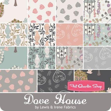 Dove House by Lewis & Irene Fabrics - September 2016
