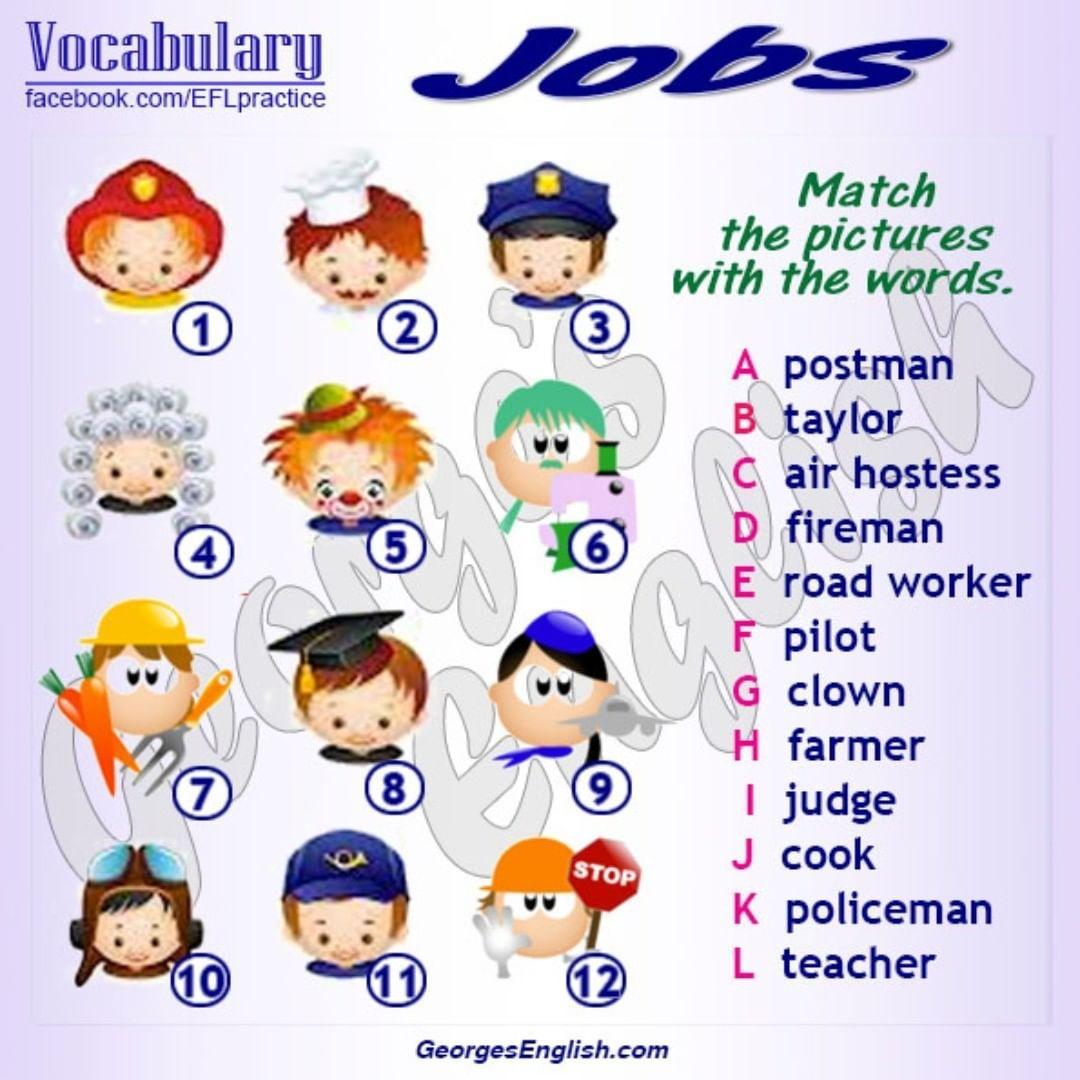 job occupation profession englishlearning efl esl