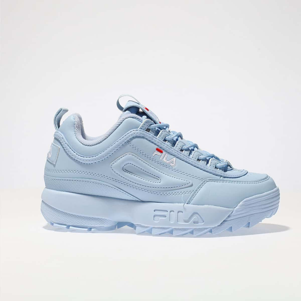 womens pale blue fila disruptor ii trainers | schuh | Wishlist in ...