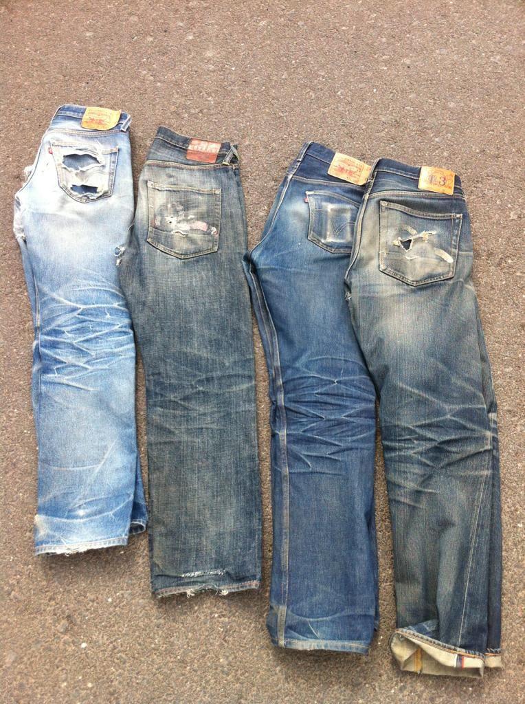 a2ef7f1e 501 STF and Evisu. Raw and selvedge denim.   Denim in 2019   Jeans ...