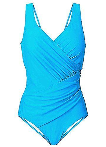 Wantoby Womens Tummy Control One Piece Swimsuit Bathing Suit Monokini Swimwear