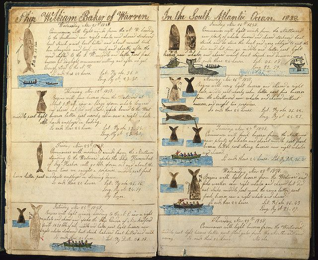 """logbook of the ship """"William Baker"""", 1838"""